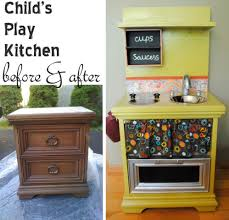Play Kitchen From Old Furniture Musely