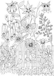 Flower Garden Coloring Pages Printable Free Printable Flower