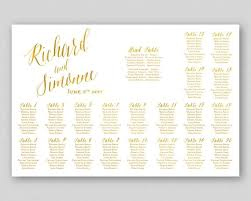 Wedding Seating Chart Poster Board Gold Seating Chart Sign Poster Board Printable Wedding Table Plan Sign Seating Plan Wedding Seating Chart Printable Faux Gold Caligraphy