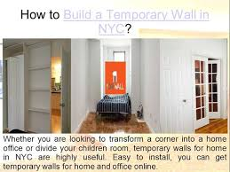 how to build a temporary wall in nyc