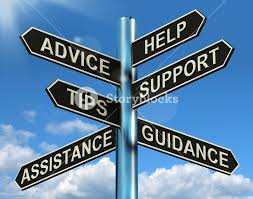 Advice Help Support And Tips Signpost Showing Information