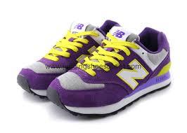 new balance purple. new balance wl574 women shoes purple / grey yellow