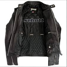 schott nyc clic racer black leather jacket lc940d