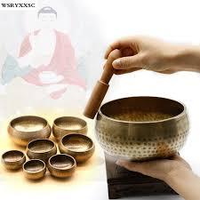 7 sizes copper meditation singing bowl tibetan yoga singing bowl himalayan hand hammered chakra meditation massage