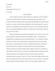 florence kelley speech rhetorical analysis pablo estrada p  2 pages florence kelley essay docx