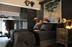 Male Bedroom Male Bedroom Ideas On A Budget Wall Mounted Brown Wooden Bed Black