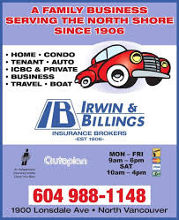 irwin billings insurance opening hours 1900 lonsdale avenue north vancouver bc