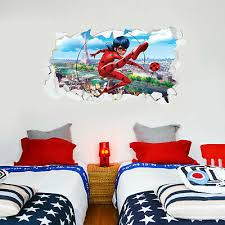 ladybug broken wall paris decal mural