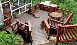 deck ideas. Beautiful Backyard Deck With Furniture Ideas