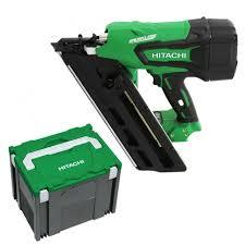 hitachi 2nd fix nail gun. hitachi nr1890dbcl(h5) 90mm 18v li-ion cordless brushless framing nailer - skin 2nd fix nail gun .