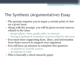 Ap English Synthesis Essay Writing The Synthesis Essay Ap English Language Composition