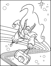 Free Printable Thor Coloring Pages For
