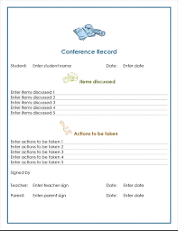 parent conference template teacher parent conference record office templates