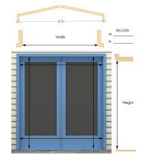 retractable screen doors. MEASURING INSTRUCTIONS: INSIDE/JAMB MOUNT Retractable Screen Doors K