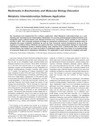 Iubmb Nicholson Metabolic Pathways Chart Pdf Multimedia In Biochemistry And Molecular Biology