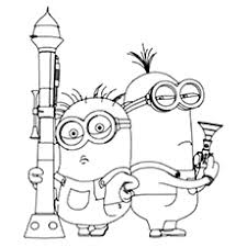Small Picture 25 Cute Minions Coloring Pages For Your Toddler