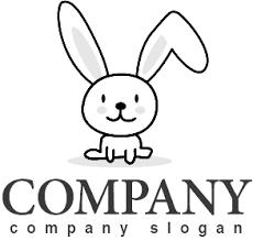 うさぎ動物かわいいロゴマークデザイン329