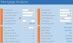 Mortgage Calculator With Extra Monthly And Yearly Payments Windows 10 Mortgage Calculator App To Calculate Amortization Schedule