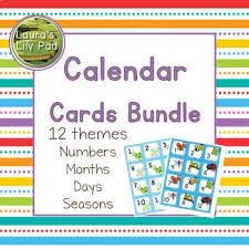 Calendar Cards Bundle Preschool Pre K Classroom Calendar