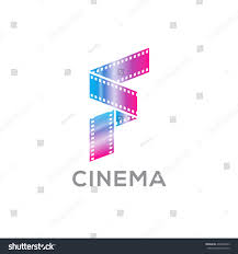 stock vector abstract letter f logo for videotape film production