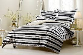 5pc black and white striped duvet cover set style 1008 cherry hill collection