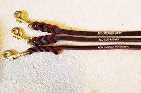 embossed leather dog leashes