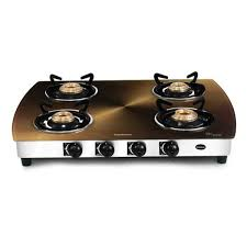 Gas Cooktop Glass Buy Sunblaze Four Burner Coral Curve Copper Cooktop Le S411