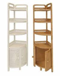 Wicker Corner Shelves Tall Wicker Corner Shelf 2