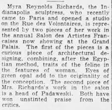 Myra Richards, sculptor 1930 Paris - Newspapers.com