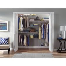 closet organizer storage system clothes shelf rack wardrobe shelves hanger space