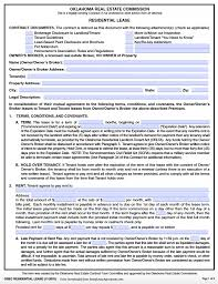 Free Oklahoma Standard Residential Lease Agreement – Pdf Template