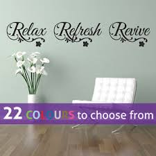 Beauty Parlour Quotes Best of RELAX Refresh REVIVE Quote Wall Sticker Art Decal Spa Bathroom Nail