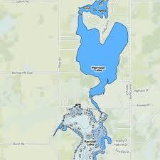 Barton Lake Depth Chart Morrison Lake Fishing Map Us_mi_12_23 Nautical Charts App