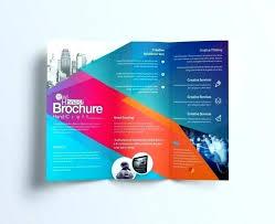 Blank Fold Brochure Template Luxury 3 Folded Free Templates