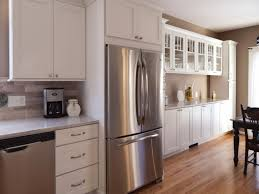 white shaker cabinet door. Wonderful Shaker Photo Gallery Of Remodeled Kitchen Features CliqStudios Dayton Painted White  Cabinets With Mission Mullion Glass Doors And Shaker Cabinet Door