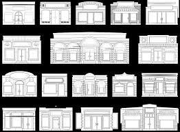 front door clipart black and white. Store Doors Clipart And Abstract House Fronts Shop Window Door Black White Art Px Front