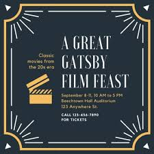 Great Gatsby Invitation Template Customize 122 Great Gatsby Invitations Templates Online Canva