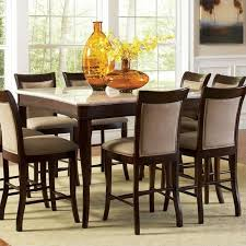 steve silver company mille marble top counter height dining table