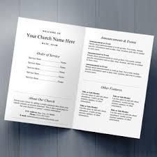 Church Program Templates Free Download Church Bulletins Bulletin Printing Template Concordia Supply