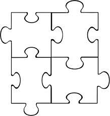 Blank Jigsaw Puzzle Template - Individual A4 Size Pieces Make Up ...