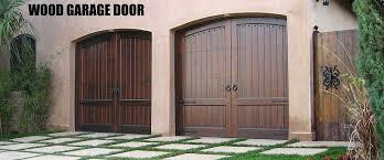 custom wood garage door installations and repairs by expert technicians