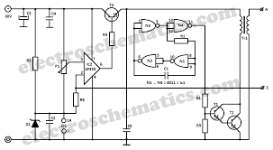 ac to dc converter circuit diagram the wiring diagram high voltage converter circuit circuit diagram