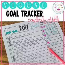 How To Make A Goal Chart Visual Goal Chart Editable