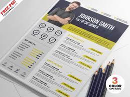 Designer Resume Template Psd Psdfreebiescom