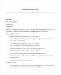 Resume For Teaching Job Resume For Teaching Job With Experience