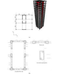 Shear Link Design A The Structural Plan Elevation Of The Models B