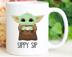 Twitter user adoptedbabyyoda said, baby yoda and his soup is the new sipping tea meme. Baby Yoda Sippy Sip Etsy