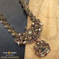 traditional mayur antique necklace