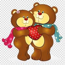 Cute Couple Png Bear Cartoon Drawing Bears Love Cute Couple Transparent