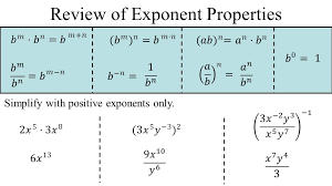 2 review of exponent properties simplify with positive exponents only